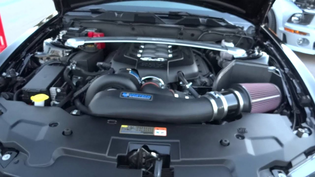2012 Ford Mustang 5.0 w/ Vortech Supercharger - YouTube