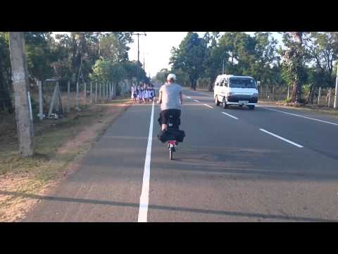 Pedaling Past A Giggle Of Sri Lankan School Girls video