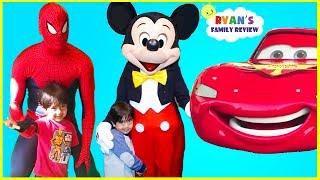 Every Disney Characters Ryan meet so far at Amusement Park!