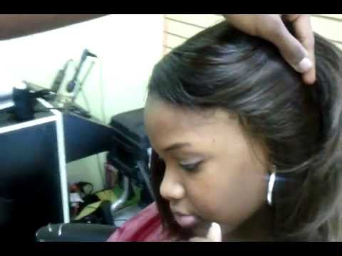 Invisible hairline 100% SEW IN ponytail