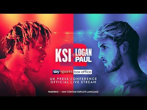 LIVE! KSI vs Logan Paul 2 UK Press Conference! впё
