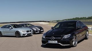 Match Mercedes C63 AMG, BMW M4, Lexus RC-F