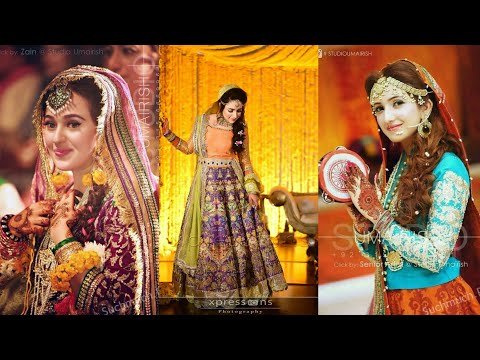 Beautiful And Latest Mahndi Dresses Designs Ideas For Girls || Trendy Fashion