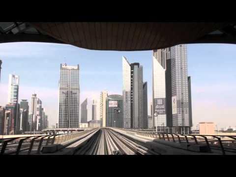 Dubai Metro - Khalid bin Al Waleed Station to Noor Islamic Bank Station HD (2011)