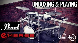 Pearl e/Merge electronic drums powered by Korg unboxing & playing  by drum-tec
