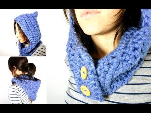 tejer un cuello   capucha de lana a ganchillo crochet   youtube