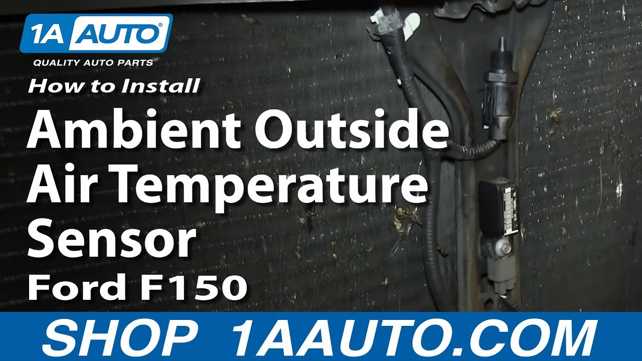 how to install replace ambient outside air temperature sensor 2004 08 ford f150 youtube. Black Bedroom Furniture Sets. Home Design Ideas