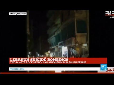 BREAKING - Lebanon: 2 bombs strike Beirut suburb Hezbollah stronghold, at least 20 killed