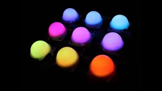 Full Color 12V 0 72W WS2801 IC Waterproof IP68 LED Dots Pixel Digital Programmable Holiday Module Li
