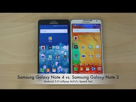 Official Android 5.0 Lollipop: Samsung Galaxy Note 4 vs. Samsung Galaxy Note 3 AnTuTu Speed Test