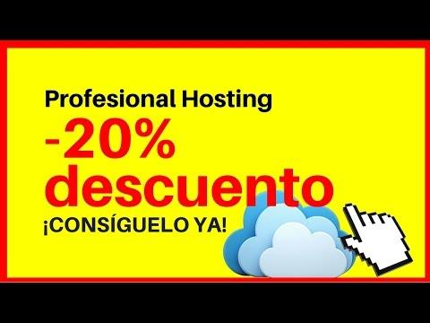 Cupón descuento Profesional Hosting - 20% descuento