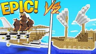 OP BUILD YOUR OWN SHIP IN MINECRAFT - SEA OF THIEVES IN MINECRAFT MINIGAME?! Minecraft 1.12.2 Modded