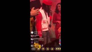 "Offset rapping to Cardi B at his  "" Father Of 4 "" Album release party"