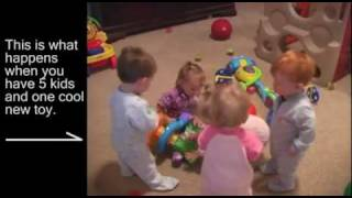 5 babies-one toy: What happens when you only give one toy to a set of quintuplets