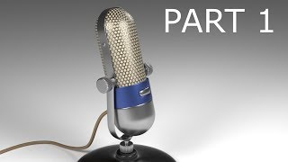 Blender Tutorial: Modeling a Vintage Microphone: Part 1
