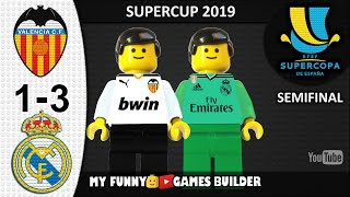 Valencia vs Real Madrid 1-3 • Supercopa de España 2019 in LEGO • All Goals Highlights