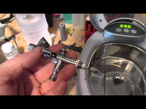 How to clean the Airbrush with an Ultrasonic Cleaner.