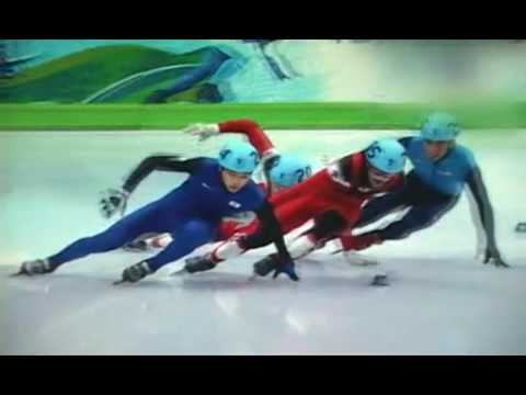 Charles Hamelin 500m Short Track Gold Medal Moment- Pushing Lee???