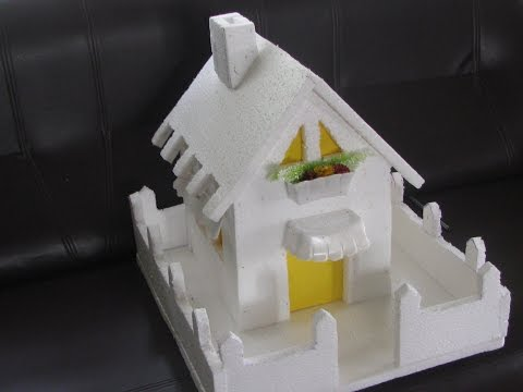 How to make a Thermocol Model House - Model 1