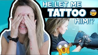 HE LET ME TATTOO HIM?! | Cozy Home Vlog!!