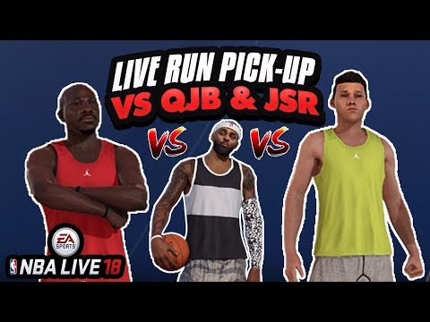 NBA LIVE 18 DEMO VS QJB & JESSERTHELAZER STREAM! LIVE RUN CHALLENGES PICK-UP GAMES