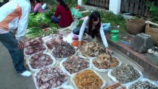Laos: Luang Prabang - at the morning market
