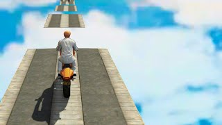 Freestyle Bike Stunting Race (GTA 5 Funny Moments)
