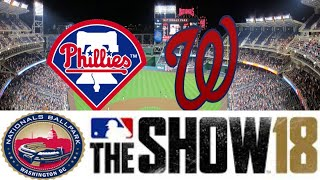 MLB The Show 18 (PS4) - Phillies vs Nationals Game 1 (Full Broadcast Presntation)