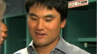 Thumb Chan Ho Park sólo estaba enfermo en su primer juego con los Yankees