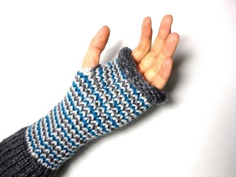 Cómo hacer mitones (guantes sin dedos) con telar circular