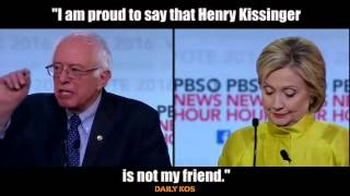 """I am proud to say that Henry Kissinger is not my friend."" - B. Sanders"