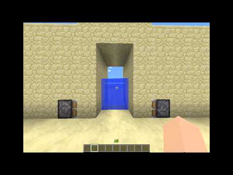 Minecraft ประตูน้ำ 4 แบบ