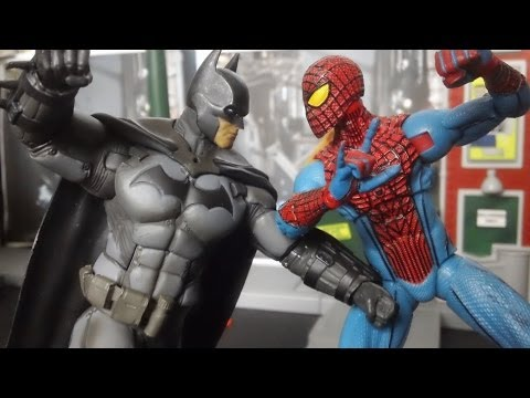 Batman Vs Spider-Man Stop Motion Fight