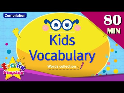 Kids vocabulary compilation - Words Theme collectionпEnglish educational video for kids