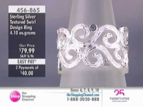 M.A.D.E. Jewellery Sterling Silver Swirl Design Ring at The Shopping Channel 456865