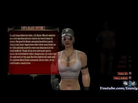 ▶ Mortal Kombat 9 Lieutenant Sonya Blade Sexy Alternate Costume [HD]