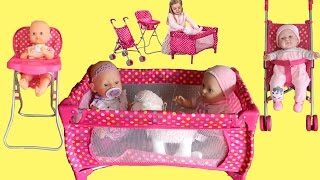 Dimples Dolls Nursery Playset Baby Born Baby Annabell Little Girl Baby Dolls Rocking Nursery Rhymes