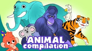 Learn Animals for Kids | Animal videos Compilation for Children | Club Baboo