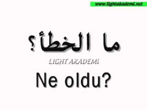 Arapça kelime kalıpları ve Arapça kelimeler 2