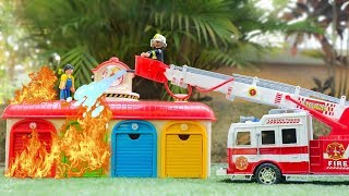 Car Toy Learning Videos for Kids. Fire truck toys | Excavator | Wheel loader | Crane truck
