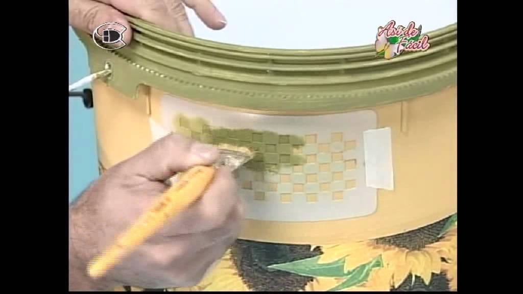 Manualidades van gogh envase pl stico con decoupage 2 - Manualidades con vasos de plastico ...