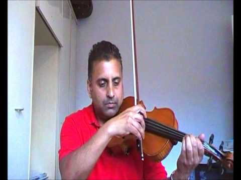 Kishore Kumars Humein tumse pyar kitna played on violin by Bhupinder...