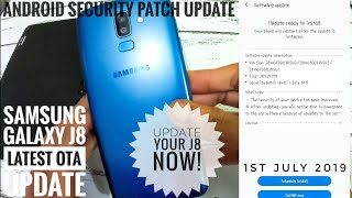 Samsung Galaxy J8 recieved the latest OTA Software Update- Android Security Patch 1 July 2019 Update