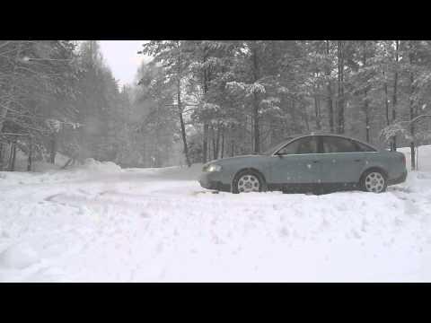 AUDI A6 c5 2.4 QUATTRO ! Snow drift !