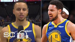Steph Curry jokes that Klay Thompson is 'auditioning' for the dunk contest   SC with SVP