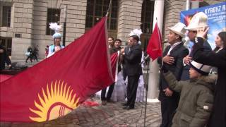 Kyrgyz Republic Flag Hoisting Ceremony. March 21 2015, New York USA