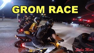 groms street racing almost hit by a truck tailgating