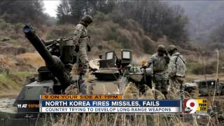 North Korea fires missiles, fails