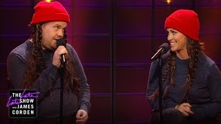 Alanis Morissette Updates 'Ironic' Lyrics on 'Late Late Show': Watch
