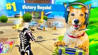 Puppy Plays Fortnite Battle Royale! 💥 (HILARIOUS!!)